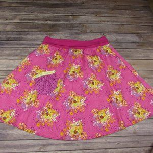Loves Me Not Rockabilly Floral Skirt L Contrast